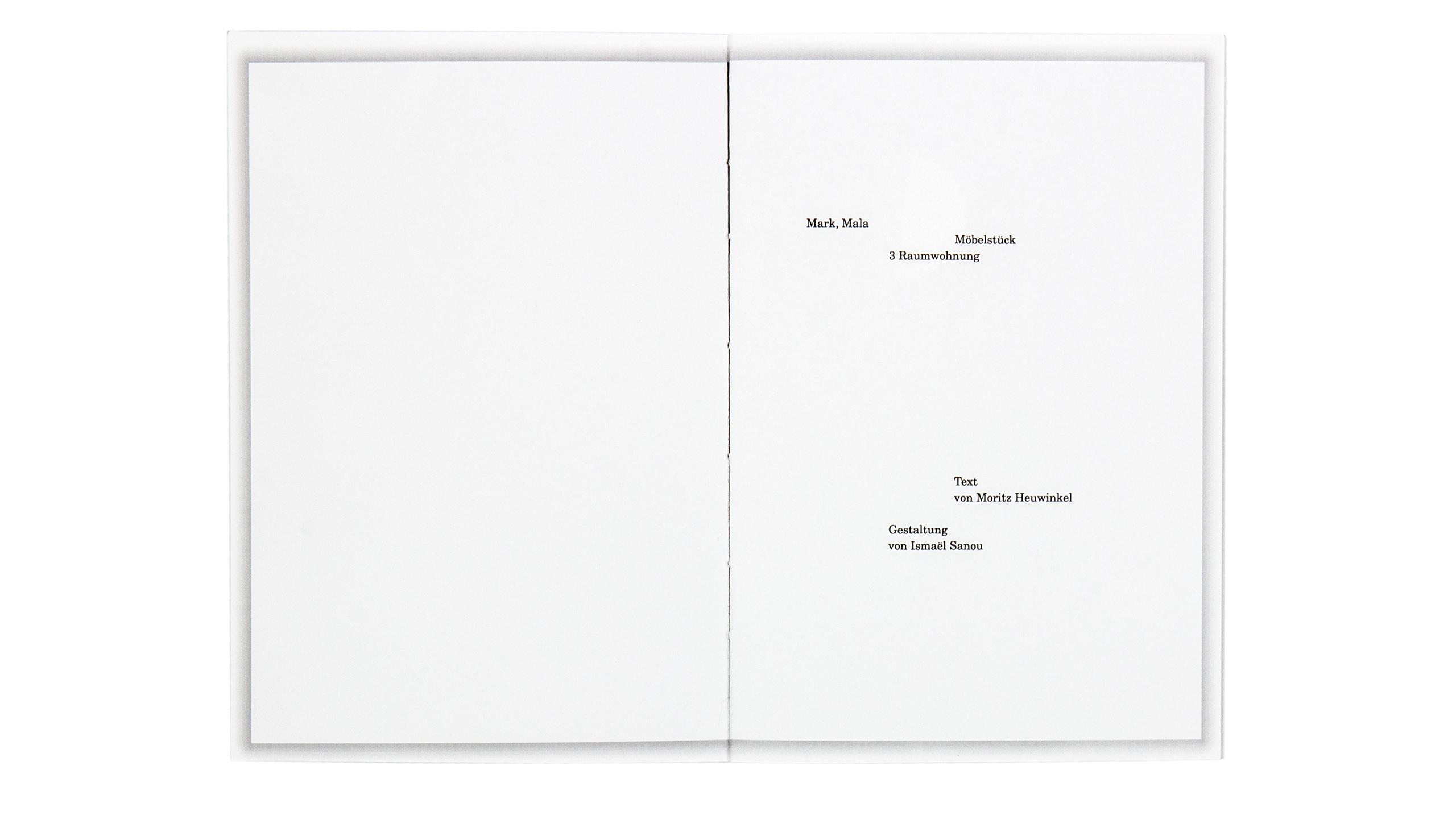 3 Raumwohnung innenseite Design Buchgestaltung black clean Editorial Design