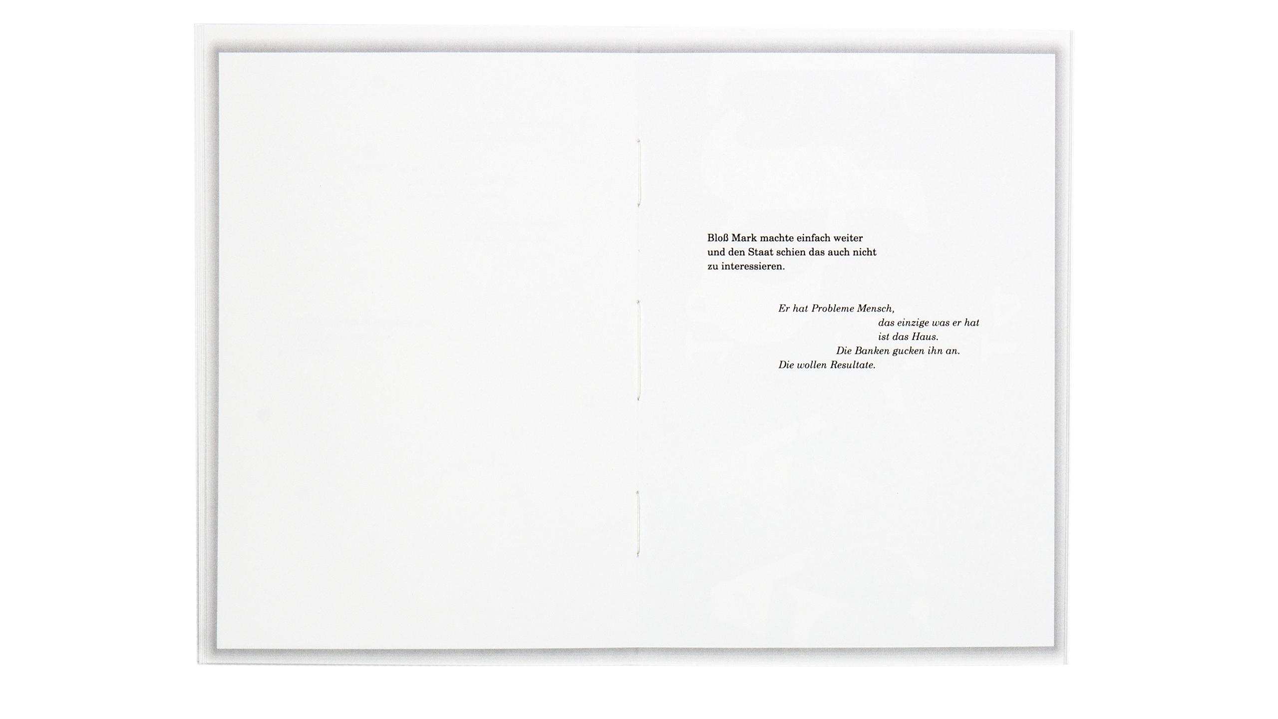 3 Raumwohnung innenseite Design Buchgestaltung black clean Editorial Design Poster Literatur Hildesheim Universität UdK