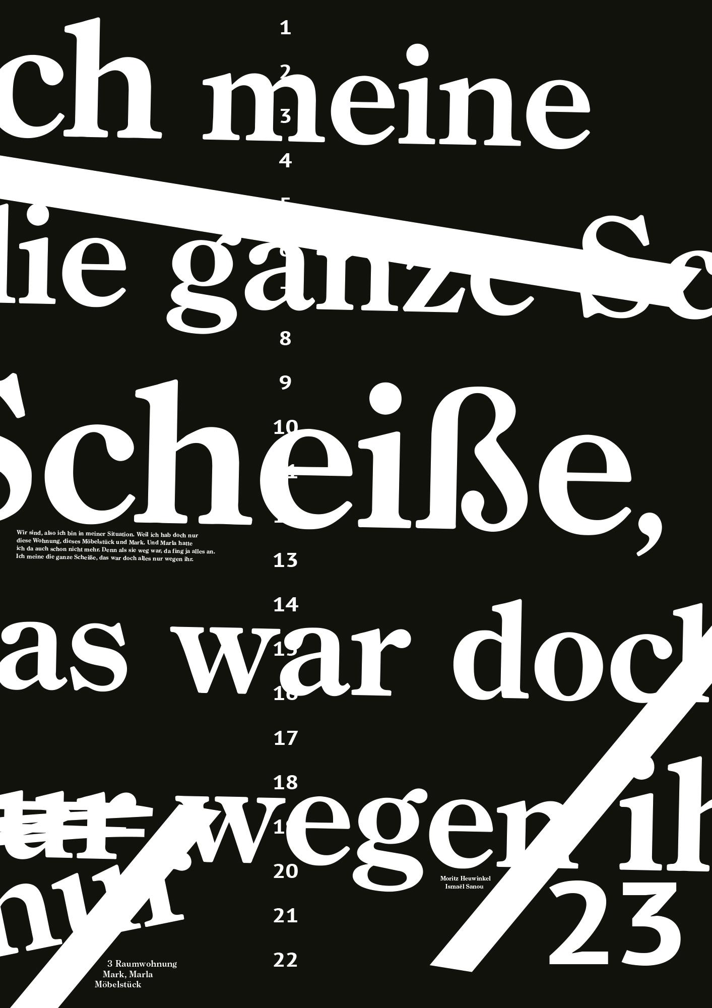 3 Raumwohnung Plakat Design Buchgestaltung black clean Poster Universität der Künste Berlin