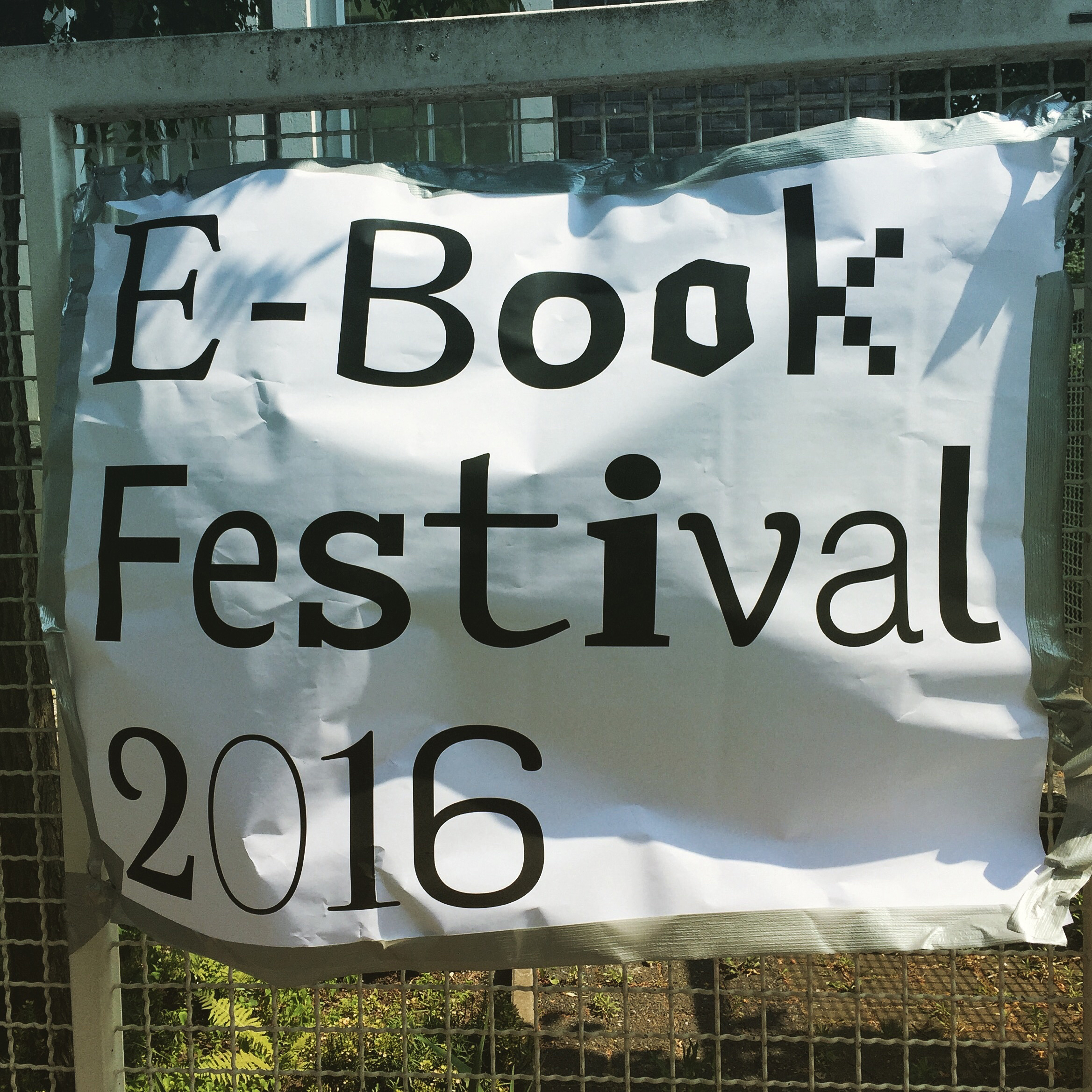 E-Book Festival 2016 Logo Design in use Veranstaltung Branding