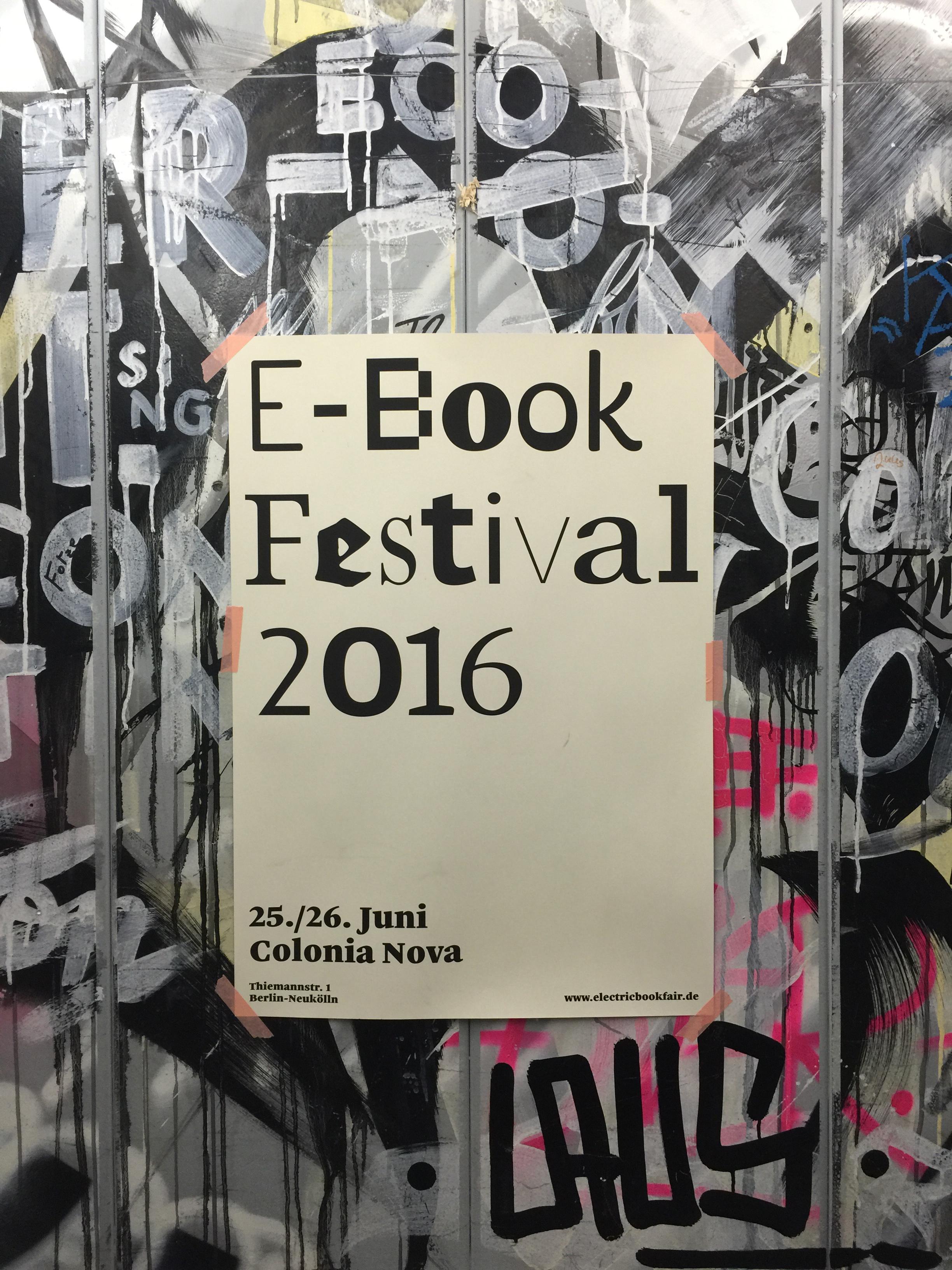E-Book Festival 2016 Logo Design in use Veranstaltung