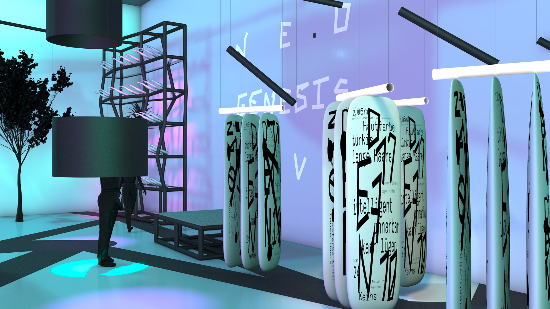 Customize your own Robot Lover Neo Genesis Love Bachelor Liebe und Sex mit Robotern Ismaël Sanou Konzept design Ausstellungsgestaltung Concept Store Museum Interaktivität