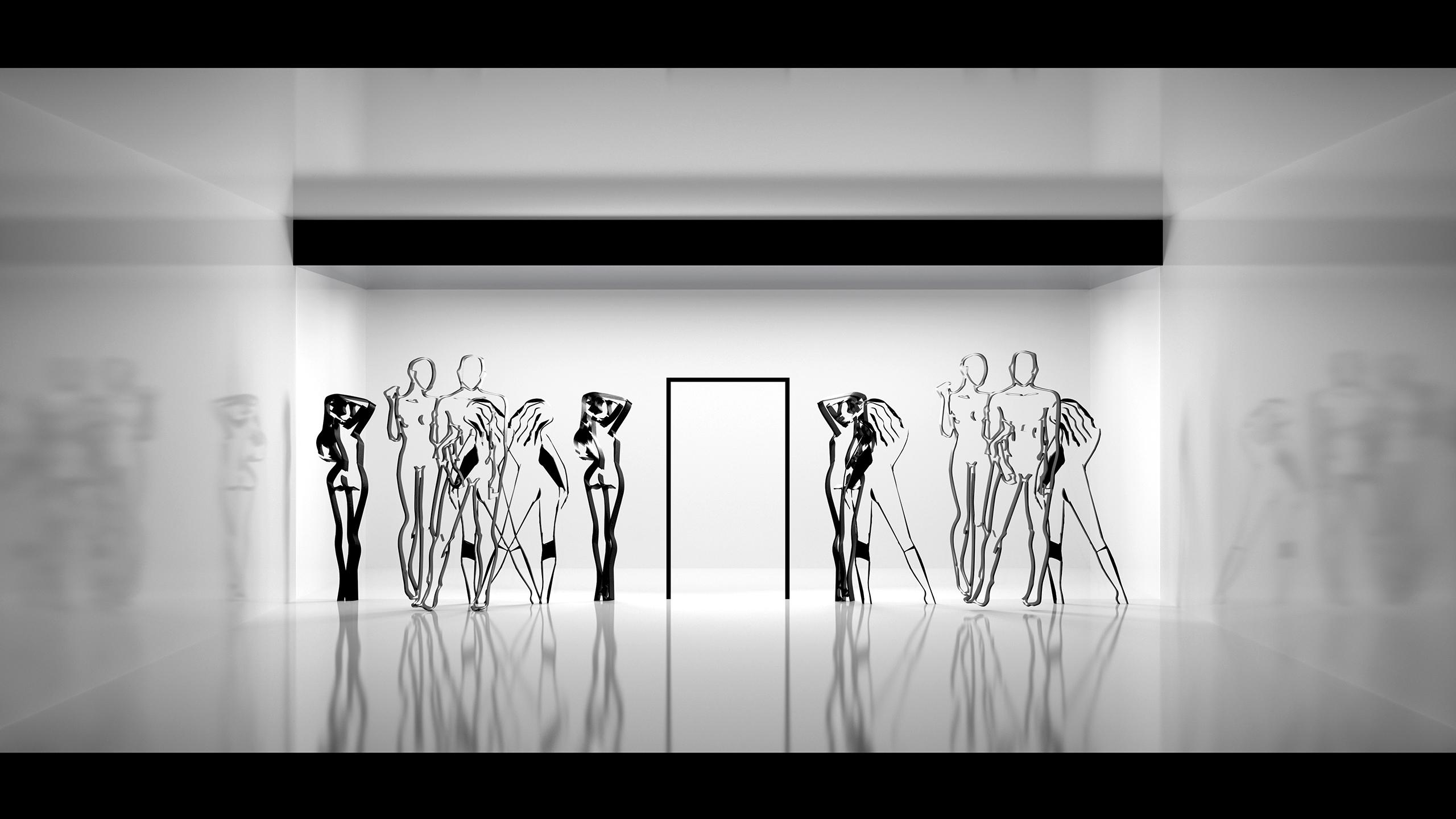Ausstellung Präsentation Phaneomen Shoppingcenter Raumgestaltung Conceptdesign Inszenierung Reuse Kapitalismus Museum Shopdesign Mall Rendering