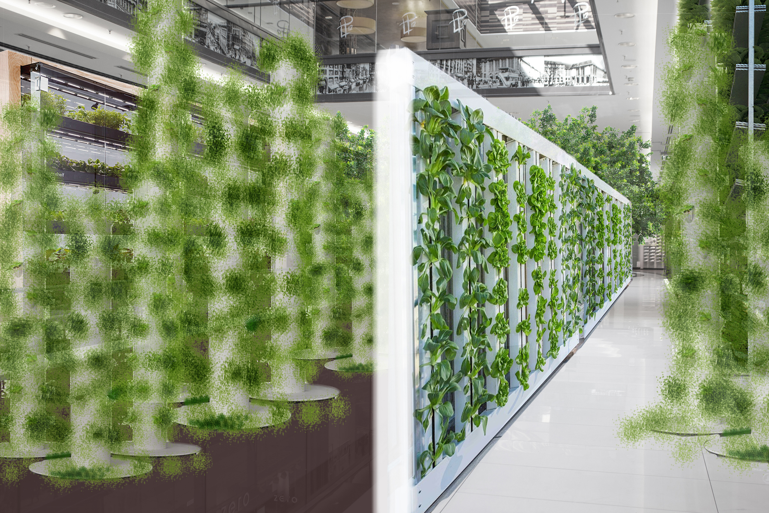 Ausstellung Präsentation Phaneomen Shoppingcenter Raumgestaltung Conceptdesign Inszenierung Reuse Kapitalismus Museum Shopdesign Mall Modelle Verwilderung