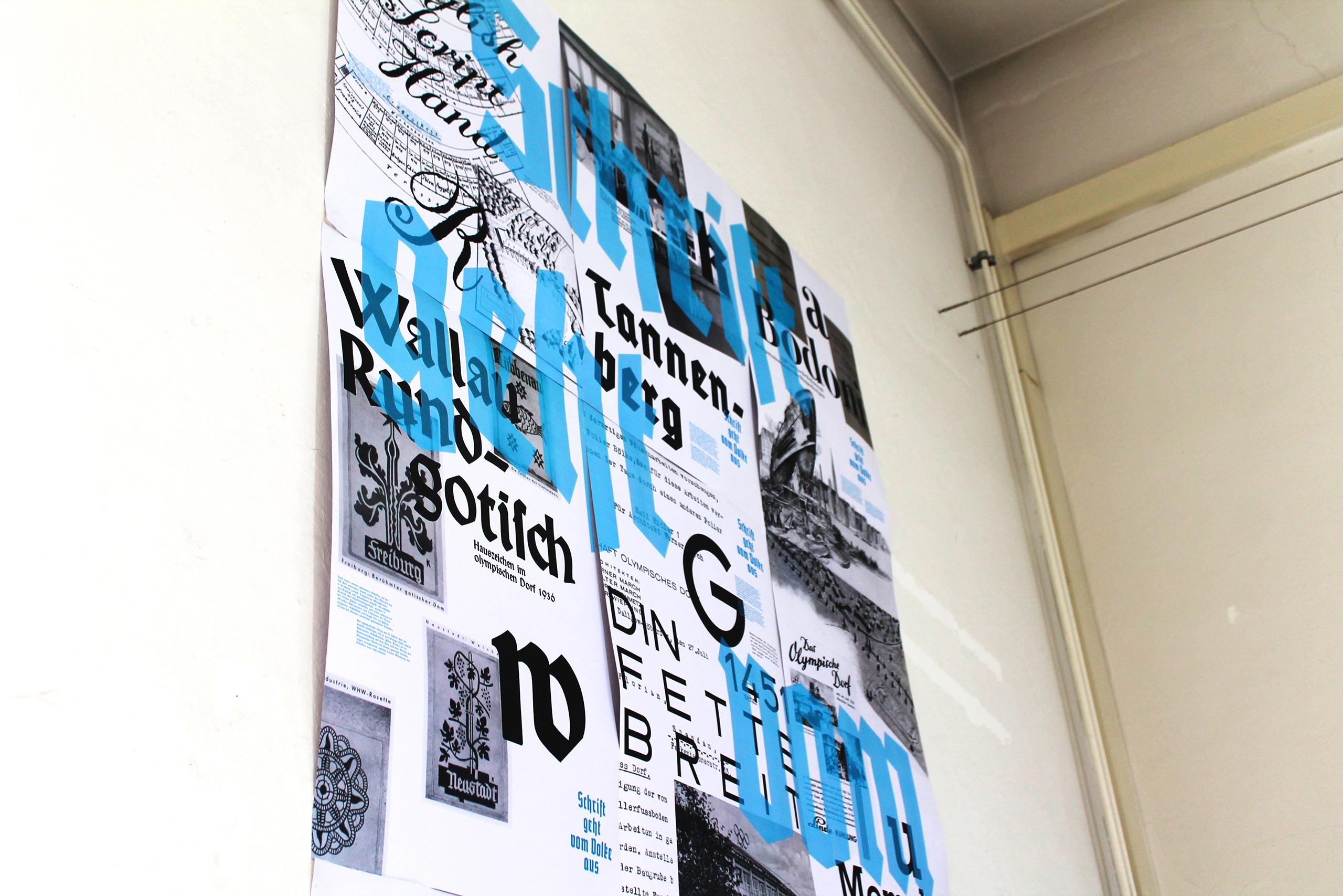 Poster Plakatgestaltung Schrift geht vom Volke aus Poster Plakat 2. Weltkrieg Schriften in Verwendung Blackletter Gebrocheneschrift