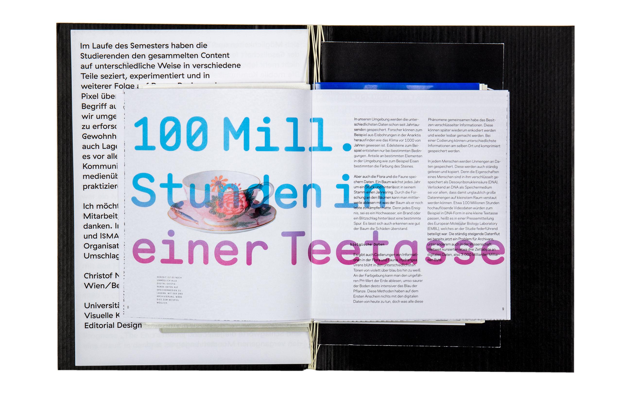 Buchgestaltung Book design Editorial Design Die Zukunft der Speichermedien Datensicherung mixed media installation Buchgestaltung Publikation Seibdruck Installation Pflanze Projektion